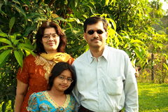 Simple Indian family Stock Photography