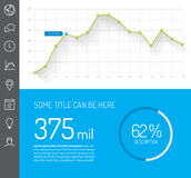 Simple infographic dashboard template vector illustration
