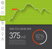 Simple infographic dashboard template Royalty Free Stock Photos
