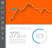 Simple infographic dashboard template stock illustration
