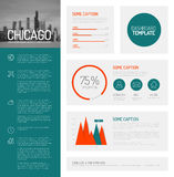 Simple infographic dashboard template Stock Photography