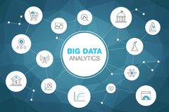 Free Simple Infographic For Big Data Analytics Concept With Stroke Icons And Blue Accent Royalty Free Stock Photo - 118790755