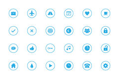 Simple Infographic Icons Set - No. 2 - Sky Blue. Collection of simple flat icons No. 2. Divided, transparent icons on white background Stock Photos