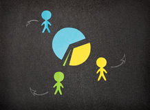 Simple infographic with paper people. Simple infographic with colored paper people Royalty Free Stock Photo