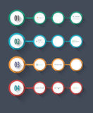 Simple Infographic step by step template Stock Photography