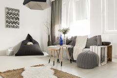 Simple interior in scandi style Stock Image