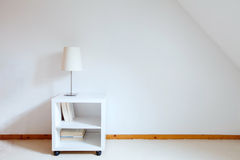 Simple interior. Of white room Royalty Free Stock Images
