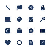 Simple internet icons set. Universal internet icons. EPS 10 Royalty Free Stock Photos