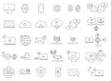 Simple internet icons set. Universal internet icons Royalty Free Stock Photo