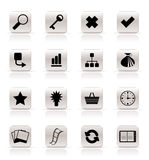 Simple Internet and Web Site Icons Royalty Free Stock Photo