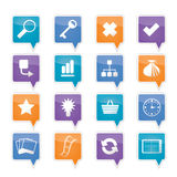 Simple Internet and Web Site Icons Royalty Free Stock Photos