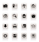 Simple Internet and Website Icons Stock Photo