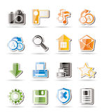 Simple Internet and Website Icons Royalty Free Stock Photos