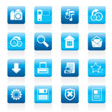 Simple Internet and Website Icons Stock Images