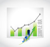 Simple ira business graph illustration Stock Photos