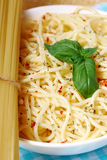 Simple italian spaghetti Royalty Free Stock Photo