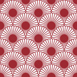 Simple Japanese style chrysanthemum seamless pattern. Traditional flower.Background can be copied without any seams.Vector endless Stock Photography