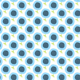 Simple kids flower pattern. Doodle seamless background. Cute blue wallpaper. Royalty Free Stock Image