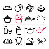 Simple kitchen icons Royalty Free Stock Images