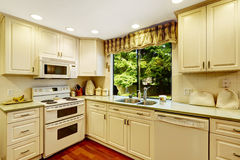 Simple kitchen interior in old house Royalty Free Stock Photos