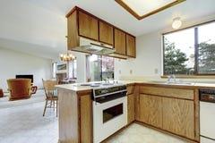 Simple kitchen room interior. Stock Photos