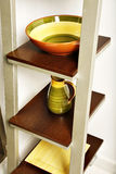 Kitchen shelves Royalty Free Stock Photos