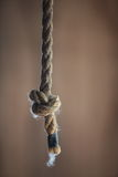Simple knot in heavy rope Royalty Free Stock Photography