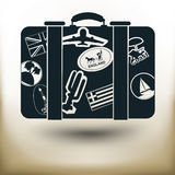 Simple labeled suitcase Royalty Free Stock Photo