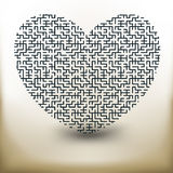 Simple labyrinth heart Royalty Free Stock Photo