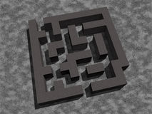 Simple labyrinth maze texture 3d render dark light lights shadow shadows Stock Photography