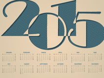 Simple landscape calendar for 2015 Royalty Free Stock Photography