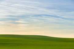 Simple landscape with sky Royalty Free Stock Image