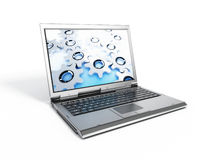 Simple laptop. 3d image of simple laptop on white background Stock Images