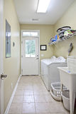 Simple laundry room royalty free stock images