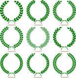 Simple laurel wreath set vector illustration