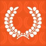 Simple laurel wreath stock image
