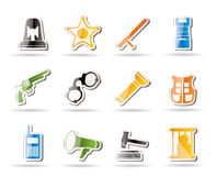 Simple law, order, police and crime icons Royalty Free Stock Image