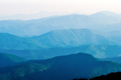 The simple layers ofthe Smokies at sunset - Smoky Mountain Nat. Royalty Free Stock Photo