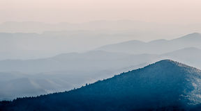The simple layers of the Smokies sunset - Smoky Mountain Nat. Stock Photos