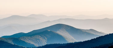 The simple layers of Smokies  sunset - Smoky Mountain Nat. Royalty Free Stock Image