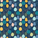 Simple leaf colorful seamless pattern. Vector Stock Images