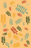 Simple leaf pattern Royalty Free Stock Photography