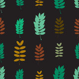 Simple leaves pattern Royalty Free Stock Photo
