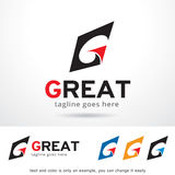 Simple Letter G Logo Template Design Vector stock illustration