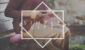 Simple Life Enjoy Meditation Mindful Natural Concept Stock Photos