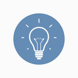 Simple light bulb icon Royalty Free Stock Image