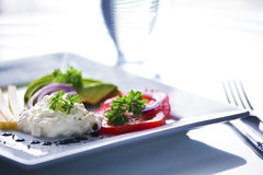 Simple Light Meal Royalty Free Stock Image