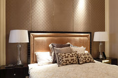 Simple like a hotel bedroom in the apartment Royalty Free Stock Photo