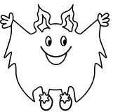 Simple line drawing.Monster Stock Photography