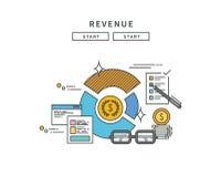 Simple line flat design of revenue, modern  illustration Stock Images